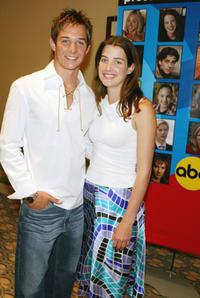 Ryan Merriman and Cobie Smulders at the ABC Network's TCA Summer Press Tour.
