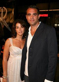 Annabella Sciorra and Bobby Cannavale at the premiere of