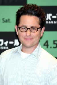 J.J. Abrams at the press conference of