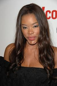 Golden Brooks at the Entertainment Weekly Grammy After Party Toasting LA Reid.
