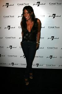 Golden Brooks at the 7 For All Mankind first retail store opening.