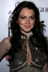 Lindsay Lohan at the 21st Annual American Cinematheque Award.