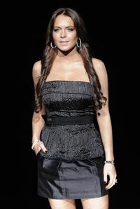 Lindsay Lohan at the Dolce and Gabbana show during the Autumn/Winter 2008/2009 women's collections.