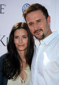 David Arquette and Courtney Cox attends the Kinerase Skincare Celebration on the Pier hosted by Courtney Cox to benefit the EV Medical Research Foundation.