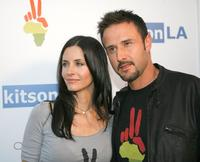 David Arquette and Courteney Cox arrive at the OmniPeace Event to stop extreme poverty in Sub-Saharan Africa by 2025 at Kitson.