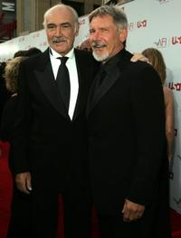 Sean Connery and Harrison Ford at the 34th AFI Life Achievement Award.