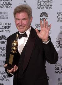 Harrison Ford at the 59th Annual Golden Globe Awards.