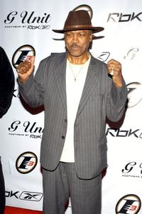 Joe Frazier at the Reeboks and rapper 50 Cent's launch party.