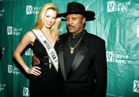 Shandi Finnessey and Joe Frazier at the Hearts For Hope Gala.