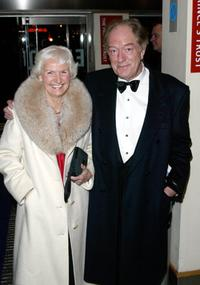 Michael Gambon and Sonya D'Artois at the London Premiere of