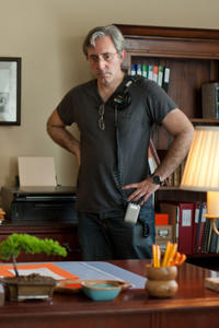 Director Paul Weitz on the set of