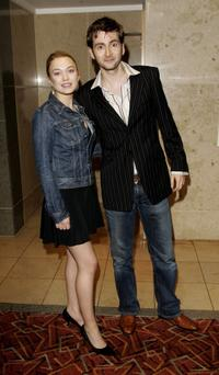 Sophia Myles and David Tennant at the Sony Ericsson Empire Film Awards 2006.