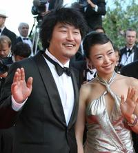 Song Kang-ho and Do-yeon Jeon at the Closing ceremony of 60th edition of the Cannes Film Festival.