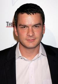 Balthazar Getty at the West Coast opening of works by artist Russell Young entitled