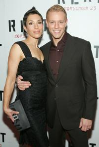 Cybele Pascal and Adam Pascal at the premiere of