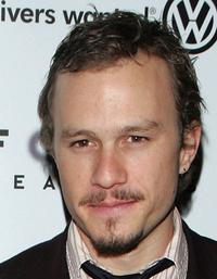 Heath Ledger at the premiere of
