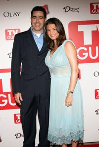 Adam Carolla and Lynette Paradise at the 4th annual TV Guide after party celebrating Emmys 2006.