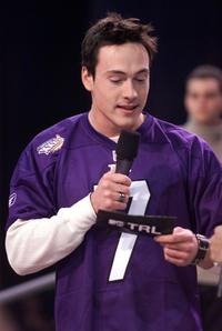 Chris Klein at the MTV TRL at Super Bowl XXXVI.