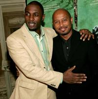 Idris Elba and director Raoul Peck at the discussion panel for the premiere of