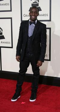 Elijah Kelley at the 50th Annual Grammy awards.
