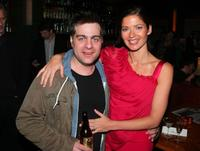 Derick Martini and Jill Hennessy at the after party of the New York premiere of