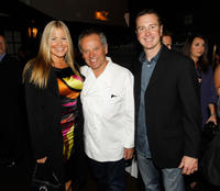 Eva, Wolfgang Puck and Kurt Busch at the NASCAR Evening Series during the day 2 of the NASCAR Sprint Cup Series Champions Week.