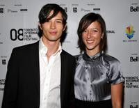 Joe Dinicol and Grace Dubery at the premiere of