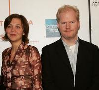 Maggie Gyllenhaal and Jim Gaffigan at the screening of
