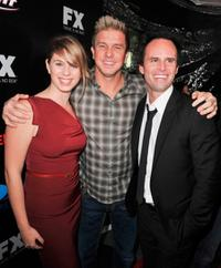 Autumn Chiklis, Kenny Johnson and Walton Goggins at the series finale screening of