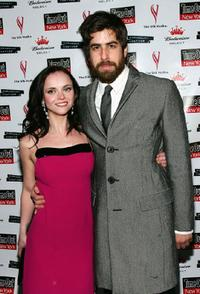 Adam Goldberg and his girlfriend Christina Ricci at the premiere of