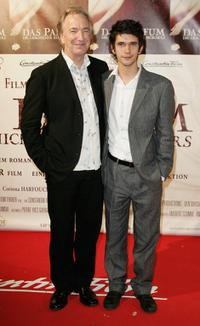 Alan Rickman and Ben Whishaw at the world premiere of