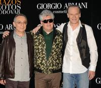 Jose Luis Gomez, director Pedro Almodovar and Lluis Homar at the photocall of