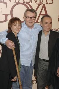 Blanca Portillo, director Milos Forman and Jose Luis Gomez at the photocall of