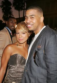 Toni Trucks and Omar Gooding at the premiere of
