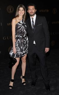 Michelle Alves and Guy Oseary at the Gucci Hosts Reception during the Mercedes-Benz Fashion Week Fall 2008.