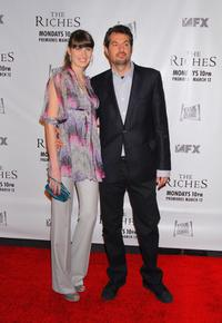 Michelle Alves and Guy Oseary at the premiere of