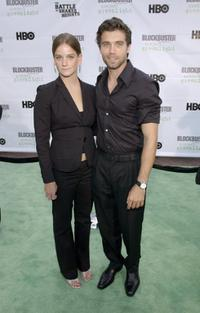 Rebecca Daubert and Anson Mount at the premiere of