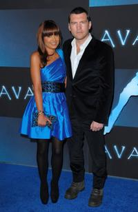 Sam Worthington and Guest at the Los Angeles premiere of
