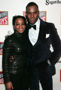 Anika Noni Rose and Colman Domingo at the after party of Broadway opening night of