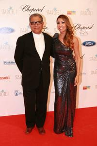 Deepak Chopra and Maria Bravo at the Starlite Gala in Spain.