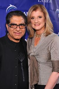 Deepak Chopra and Arianna Huffington at the Oceana's 2009 Partners Award Gala.