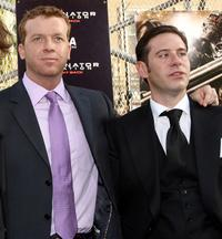 McG and Derek Anderson at the premiere of