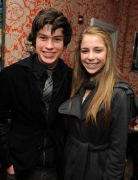 Graham Phillips and Makenzie Vega at the after party of Cinema Society & Screenvision of