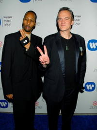 RZA and Director Quentin Tarantino at the Warner Music Group's 2007 Grammy Party.