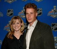 Brendan Fehr and wife Jennifer at the Stanley Cup Playoff Party.