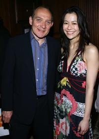 Zach Grenier and Elizabeth Chai Vasarhelyi at the after party of the premiere of