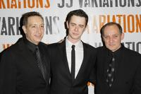 Moises Kaufman, Colin Hanks and Zach Grenier at the after party of the opening night of