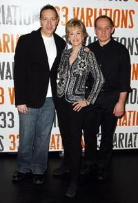 Moises Kaufman, Jane Fonda and Zach Grenier at the photo call with the cast of
