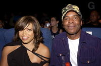 David Alan Grierand and Tisha Campbell at the Enyce/Lady Enyce Spring 2005 show at the Mercedes-Benz Fashion Week.