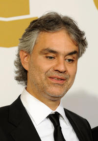 Andrea Bocelli at the 52nd Annual GRAMMY Awards in California.